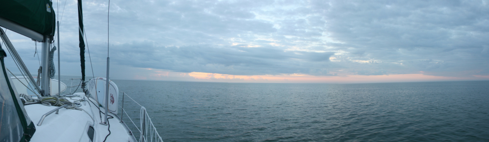 The view from the boat as we woke up.