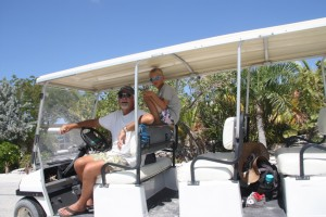 We rented a golf cart for a couple of hours with Wayne and Gaye from Celebration and toured Staniel Cay.  Wayne was our fearless driver.
