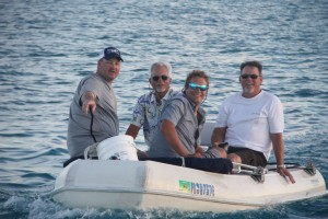 Dinghy ride with the boys!