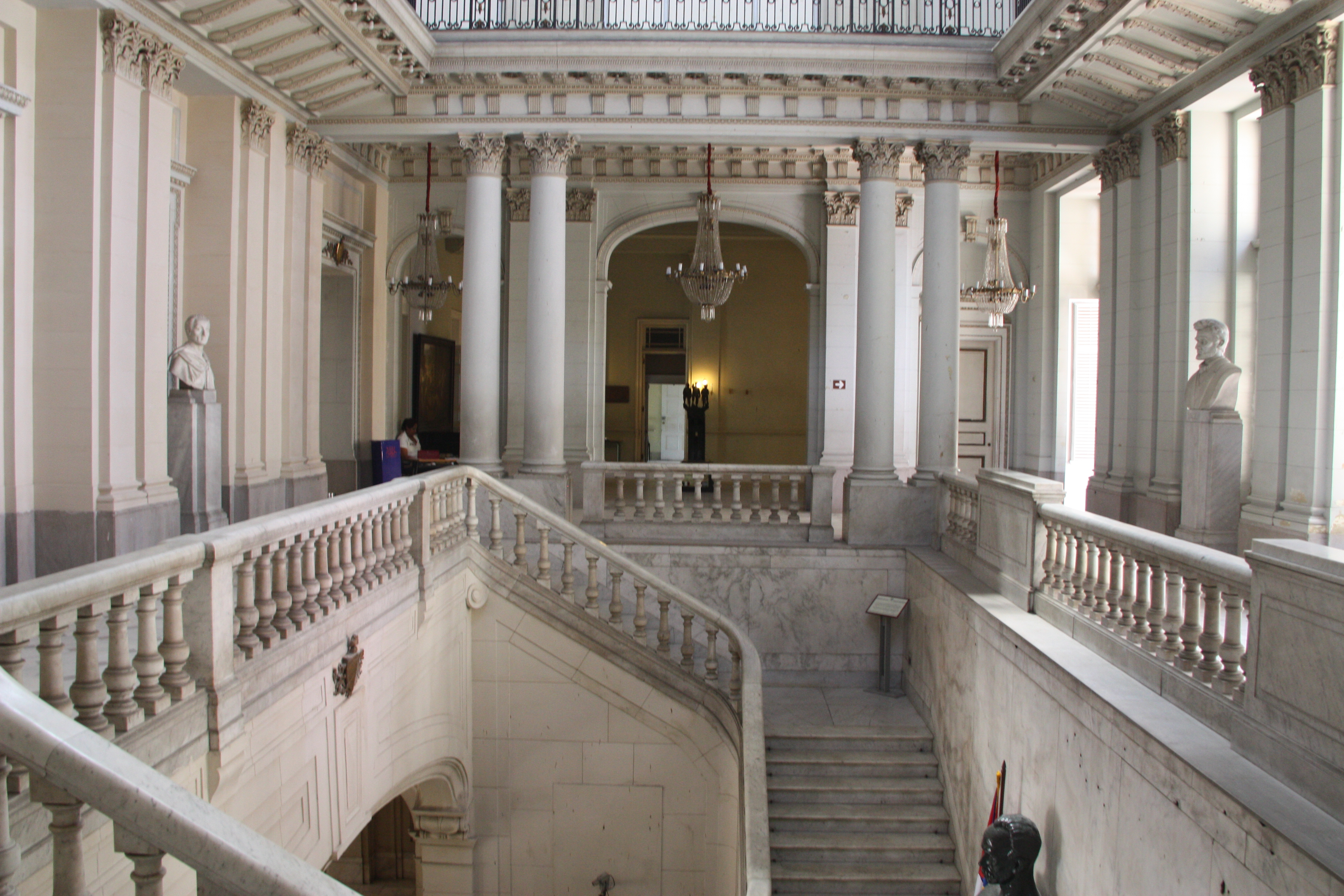 Grand stair case of the Presidential Palace.