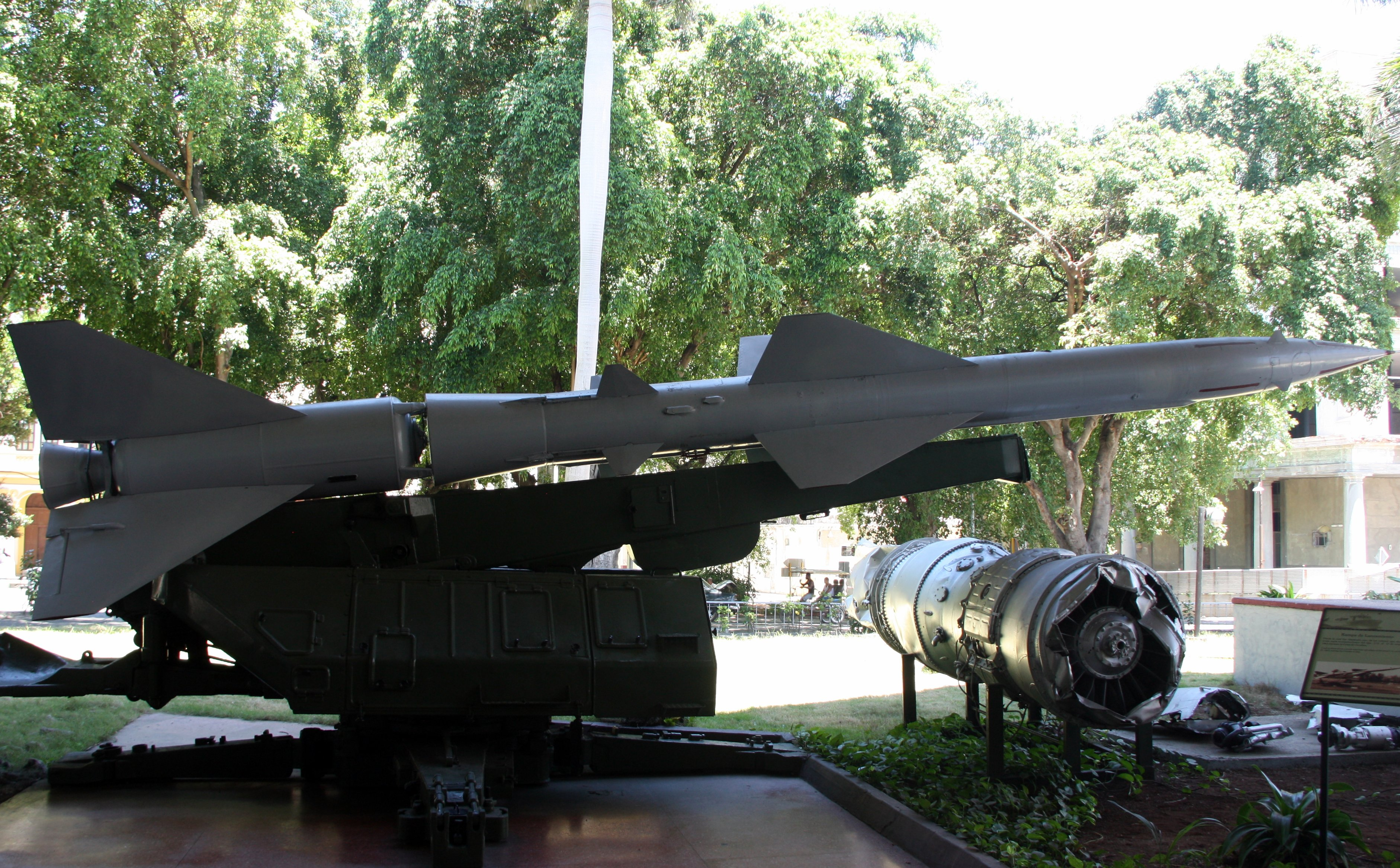 The missile and the engine of the U2 spy plane shot down during the Cuban Missile Crisis.