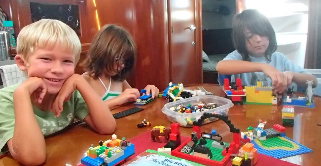 One of the best things and way better than doing school - playing Lego with friends!