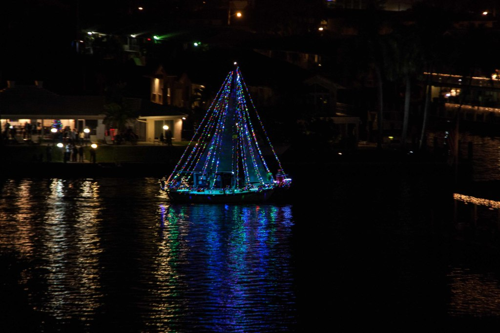 One of maybe two sailboats in the parade.