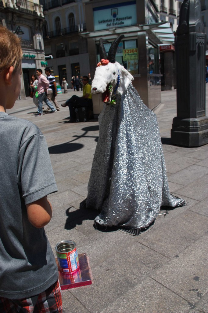 Not sure what this is about, but he was also wandering in the plaza.