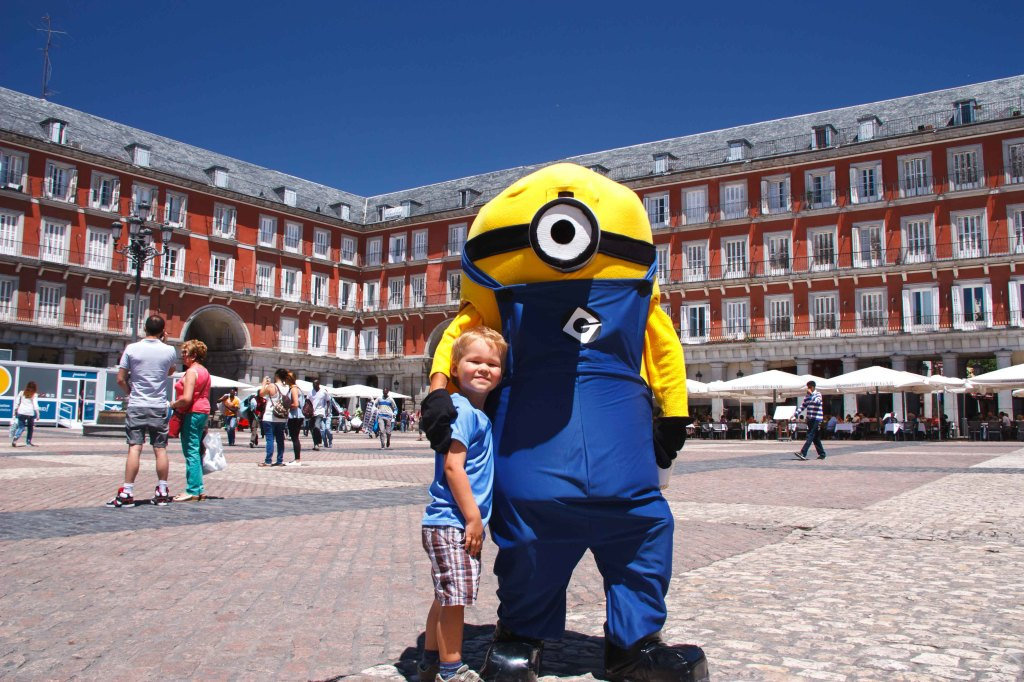 Found this little minion in Plaza Major.  You can pay to take your picture with him.