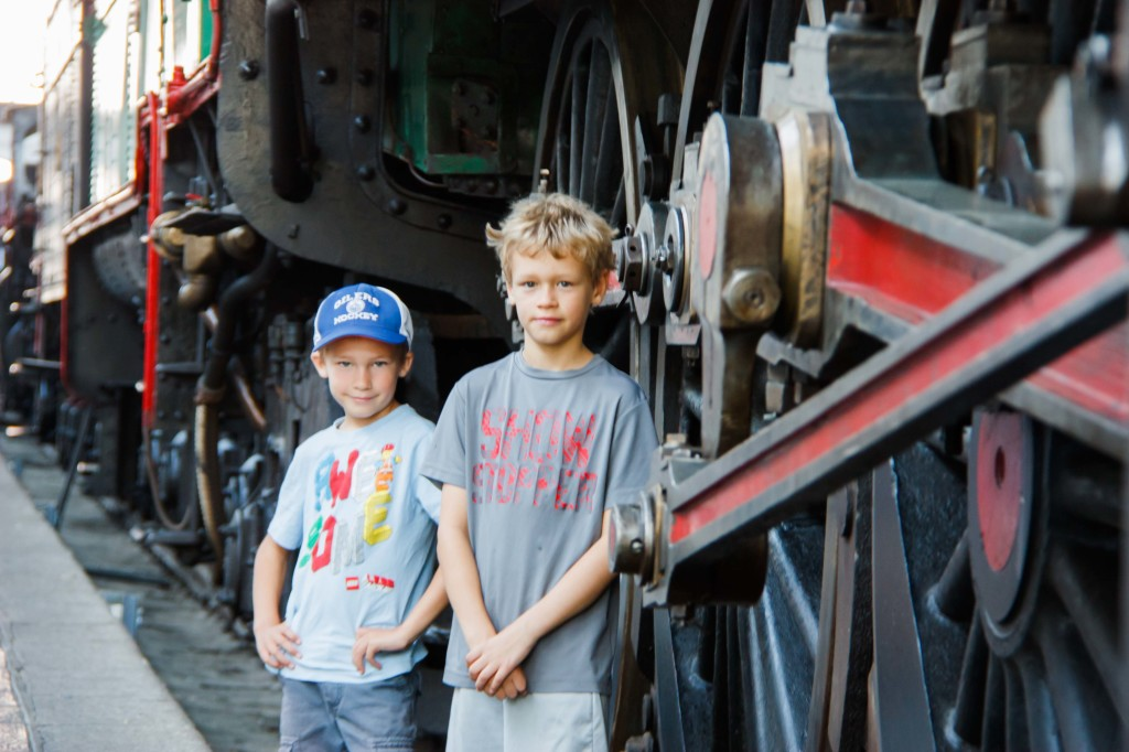 At the train museum on our last day in Madrid.