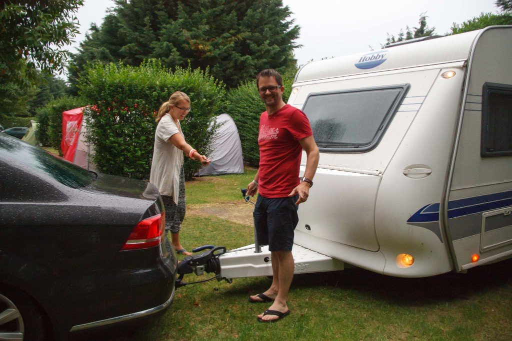 A lovely Dutch couple we were parked next to in Cote De Nacre in Saint Aubin Sur Mer in the Normandy