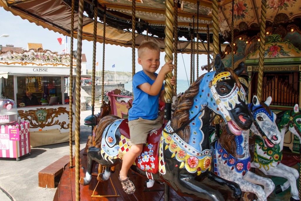 The merry-go-round was great fun.