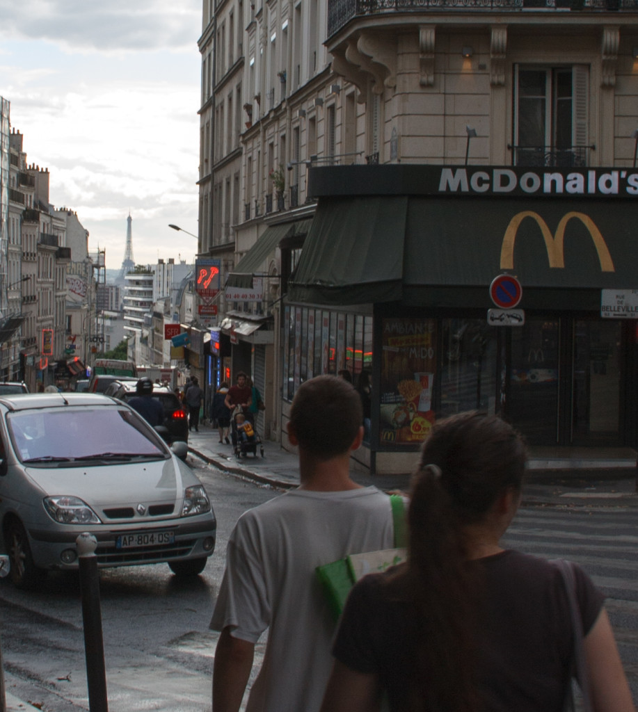 Walking the streets of Paris. Yes, we also visited McDonald's.