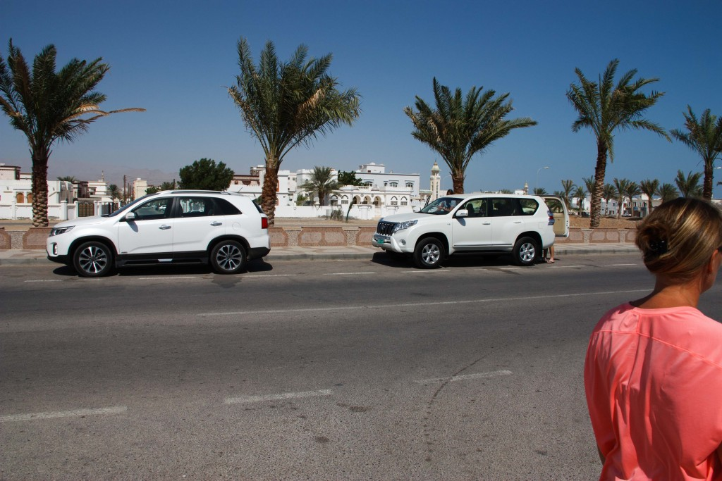 White cars everywhere, especially Prados which is the vehicle of choice here in Oman.