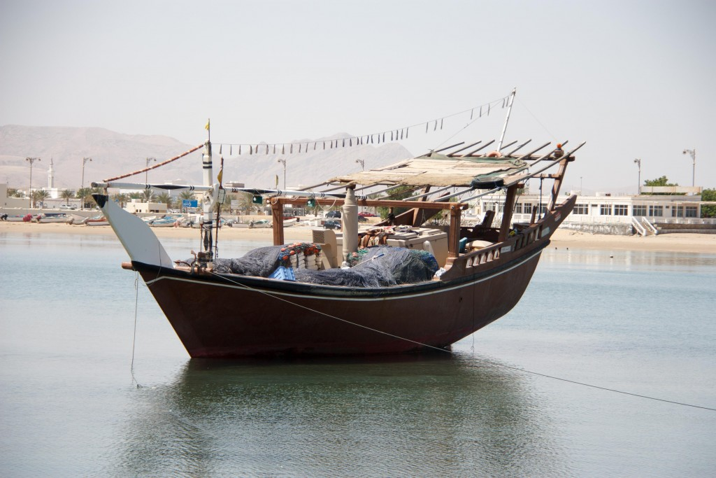 A traditional Dhow boat