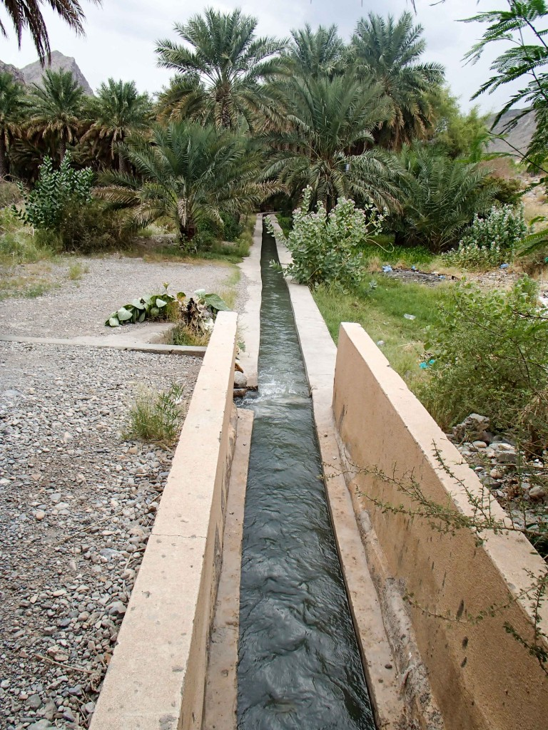 A falaj that helps funnel water through all of Oman to irrigate the country.