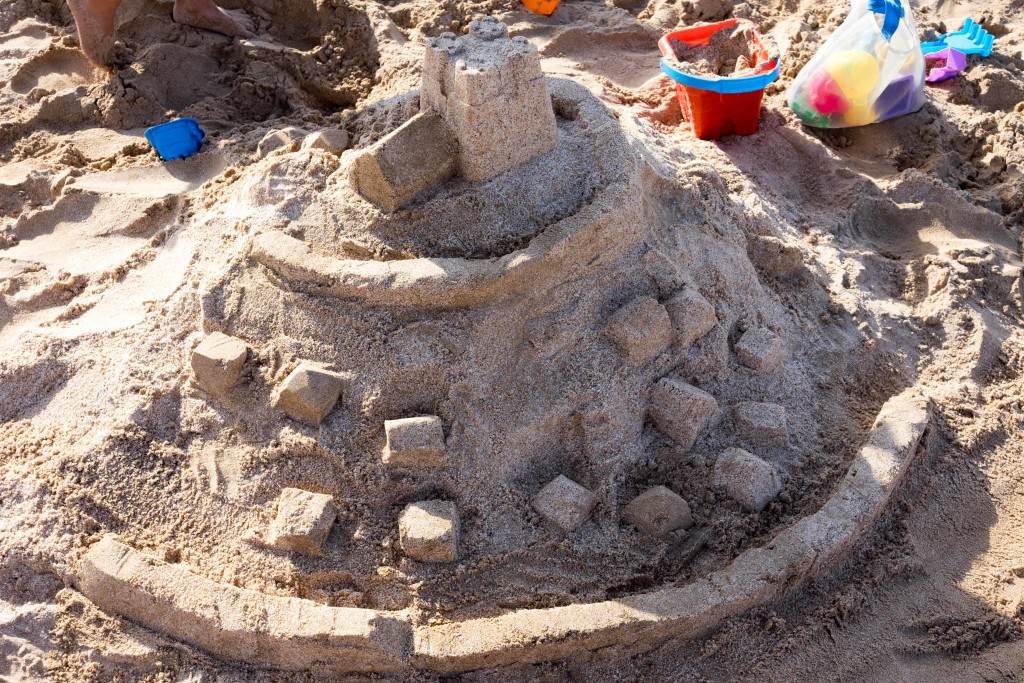 Mount St. Michel in Sand.