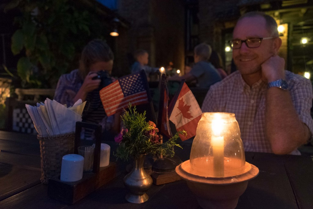 Each table had their country flags. Kinda neat.