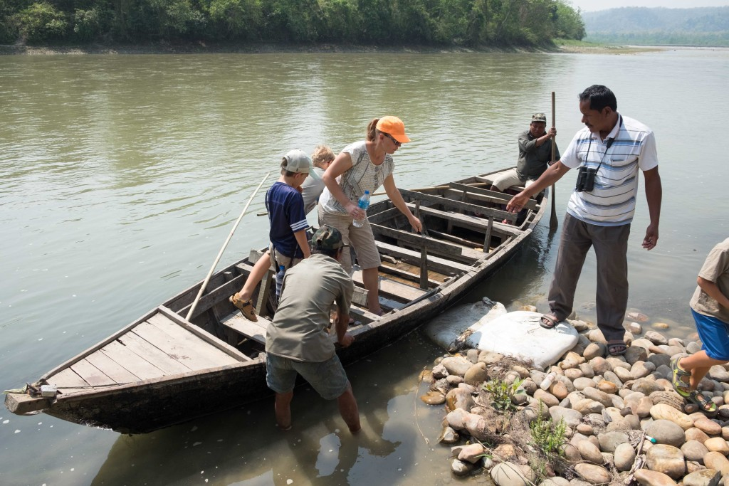 Our leaking Dory that we took down the Narayani River. We saw alligators, turtles and birds that looked like cranes.